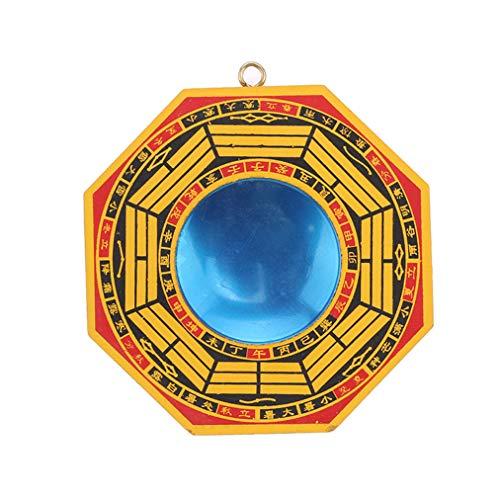 Sevenfly Traditioneller chinesischer Feng Shui konkaver Bagua-Spiegel Schutz vor schädlicher Wirkenergie (konkav Klatschspiegel)