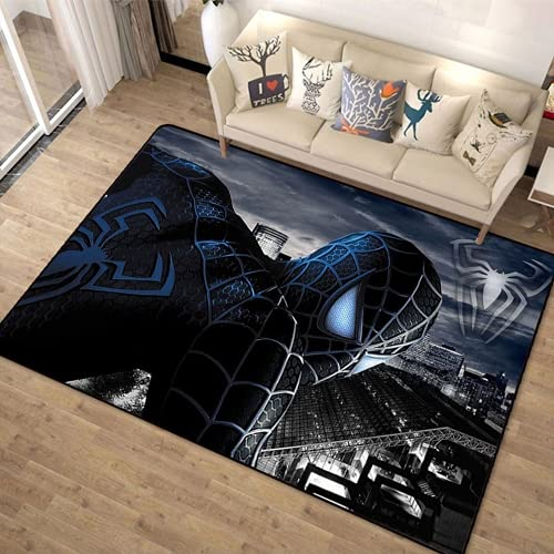Amacigana Alfombra de Spiderman de Los Vengadores, para salón, dormitorio, habitación de los niños, cama, alfombra moderna y creativa, (A11,140 x 200 cm)