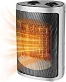 Electric Space Heater, Ceramic Space Heater with Overheat Protection and Carry Handle for Desk Office Home Bedroom, 750-1500 Watt