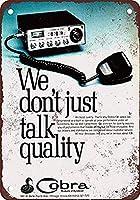 コブララジオ壁金属ポスターレトロプラーク警告ブリキサインヴィンテージ鉄絵画装飾オフィスの寝室のリビングルームクラブのための面白いハンギングクラフト