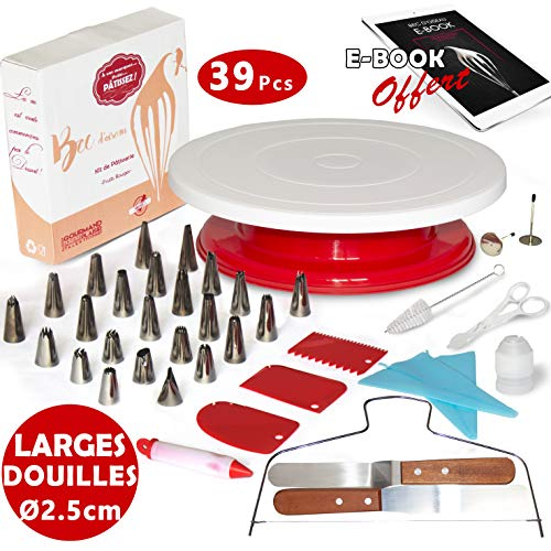 Kit de décoration pâtisserie avec plateau tournant