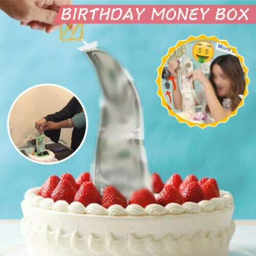 RONSHIN Gâteau d'anniversaire Décorations De Cuisson Tirelire Drôle Tirant des Accessoires d'argent pour La Fête d'anniversaire Produits D'extérieur