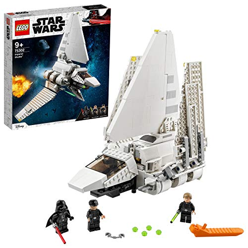 LEGO Star Wars Imperial Shuttle, Set di Costruzioni con Minifigure di Luke Skywalker e Darth Vader con Spada Laser, 75302