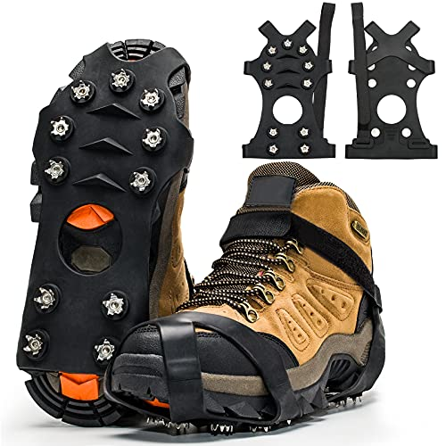ZUXNZUX Crampons, Ice Cleats for Shoes and Boots, Stainless Steel...