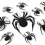 YAQIAN Pegatinas de pared de araña de Halloween, 12 unidades, reutilizables, impermeables, 3D, para ventana de Halloween, pegatinas extraíbles, suministros de fiesta de Halloween