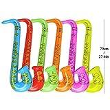 Yojoloin 12 STÜCKE Inflatables Gitarre Saxophon Mikrofon Luftballons Musikinstrumente Zubehör Für Party Supplies Party Favors Ballons Zufällige Farbe (12 STÜCKE) - 3