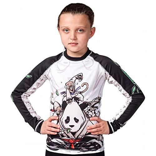 Tatami Fightwear Kids Gentle Panda - Protector de Sarpullido Juvenil, Negro/Blanco, Large