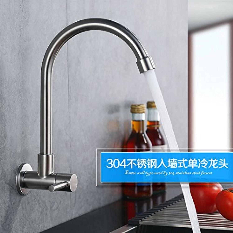 Bijjaladeva Antique Kitchen Sink Mixer Tap 304 Stainless Steel Single Cold Kitchen tap to redate The Faucet