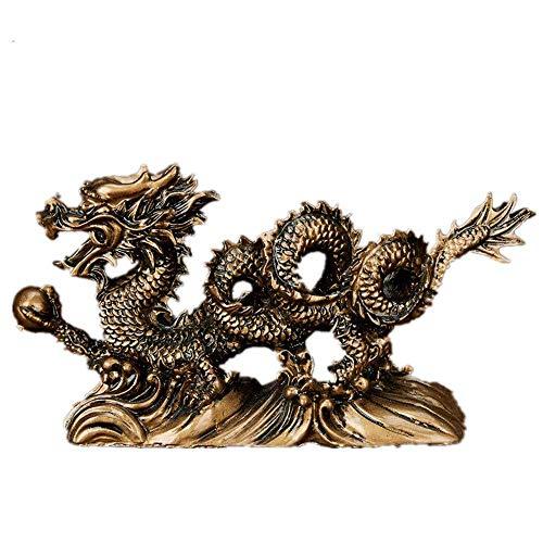 AXYQ Feng Shui hars Chinese draak Loong standbeeld symbool van welvaart Thuis Office Decor