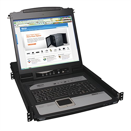 8-Port 1U Rack-Mount Console KVM Switch with 19-in. LCD and IP Remote Access (B020-U08-19-IP)