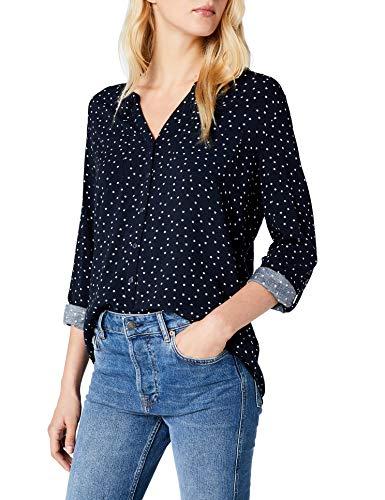 ONLY Damen onlFIRST LS Pocket AOP Shirt NOOS WVN Bluse, Mehrfarbig (Night Sky Small Cloud Dancer Stars), 36