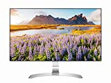 LG 27MP89HM-S.AEU Monitor per PC Desktop 27' LED IPS, Full HD 1920x1080, 5ms, AMD FreeSync 75Hz, 2x HDMI, 1x VGA, Borderless, Argento