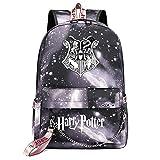 Mochila de Ocio para Estudiantes de Hogwarts, Mochila Harry Potter Grey Starry Sky, con Mochila de Interfaz de Carga USB Style-7