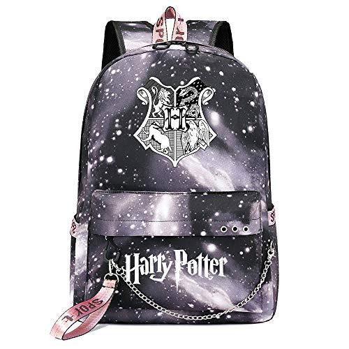 Poudlard étudiant Sac à Dos de Loisirs Potter Harry p Gris Sac à Dos Ciel étoilé , avec Interface de Charge USB Sac d'école Style-7