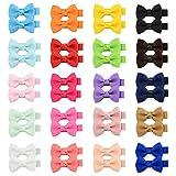 YHXX YLEN Lot de 40 nœuds en ruban gros-grain de 5,1 cm pour filles, adolescentes, enfants, bébés, tout-petits, 20 paires 795