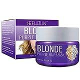 Purple Hair Mask Hair Conditioner, Maschera Antigiallo per Capelli, Risolve il Problema dei Capelli Gialli Secchi e Danneggiati, Ravviva il Colore dei Capelli Rivitalizza i Capelli Biondi