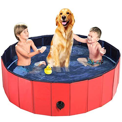 Piscine pour chien baignoire pour animaux de compagnie en plein air pliable en plastique dur PVC baignoire de natation chiens portables chats étang piscine piscine pour animaux de compagnie 80x20cm