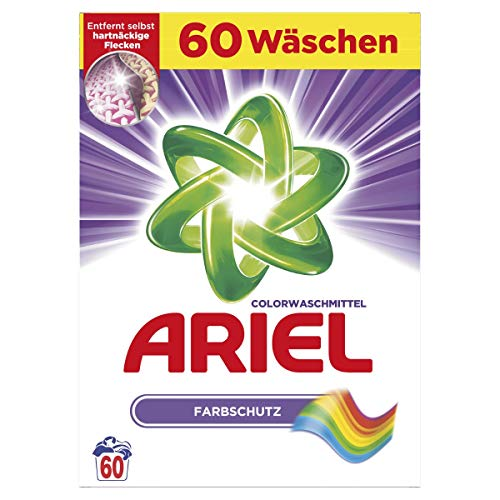 Ariel Colorwaschmittel Pulver Farbschutz 3,9 Kg, 1er Pack (1 x 60 Waschladungen)
