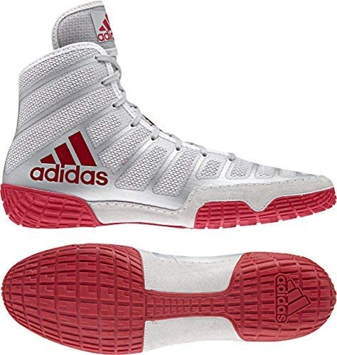 adidas Adizero Max safety 58% OFF Varner Wrestling Shoes Silver Red -
