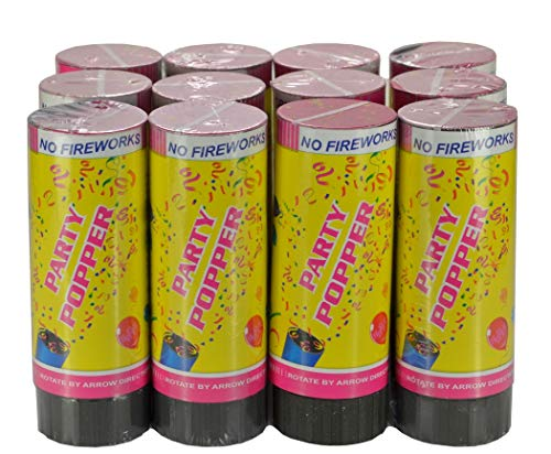 Grande Fête Poppers 6X 80 cm Premium multicolore tissu de canons à confettis