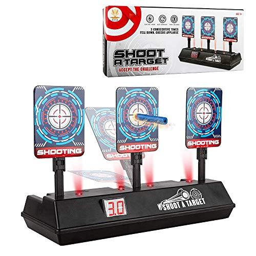 LVHERO Aufgerüstet Nerf Kompatibler Zielscheibe, Auto Reset Elektro-Schießscheiben, Automatische Wiederherstellung Zubehör für Nerf Alle Spielzeugblasters