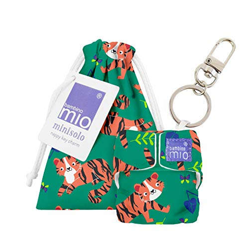 Bambino Mio, Minisolo (Windel-Schlüsselanhänger), Tiger Tango, Mehrfarbig