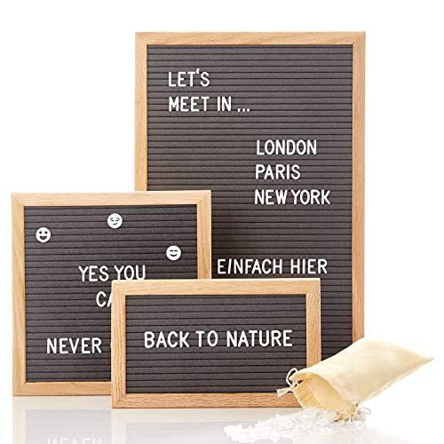 Skojig Buchstabentafel mit 340 Buchstaben in 25x15 25x25 oder 30x45 - Letterboard für Sprüche Menüs Nachrichten - Rillentafel Buchstabenbrett Pinnwand