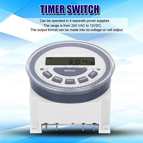Germerse Interruptor de Temporizador electrónico Digital LCD, Interruptor de Temporizador, para Equipos de producción de alumbrado público, Carteles publicitarios de Luces de neón