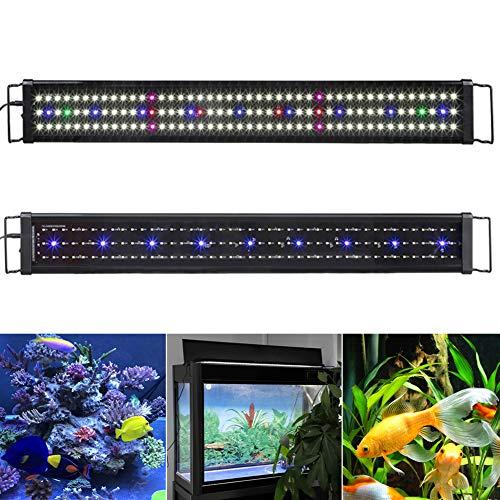AKL Aquarium Hood Lighting LED Fish Tank Light 15-25 Inch Lamp for Freshwater Saltwater Marine for Planted Saltwater Freshwater Fish Tank,UK