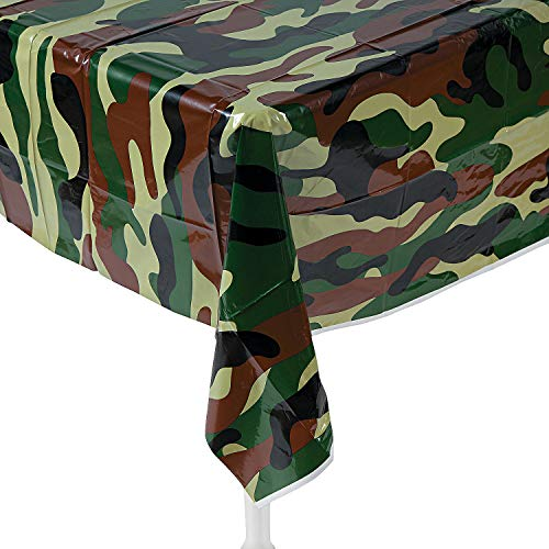 "Fun Express Camouflage Plastic Tablecover Camo Tablecloth - 54"" x 108"""