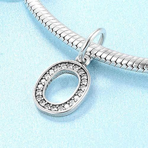 Charm Kralen,100% 925 Sterling Zilveren Kraal Charme Nul Arabische Cijfers Kralen Passen Vrouwen Armband Diy Sieraden Maken