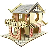 ZY123 Casa para hámsteres de madera, juguete para túneles para escalas para animales de dos pisos para ardillas, hámster, gerbiles, osos de oro, pequeños animales