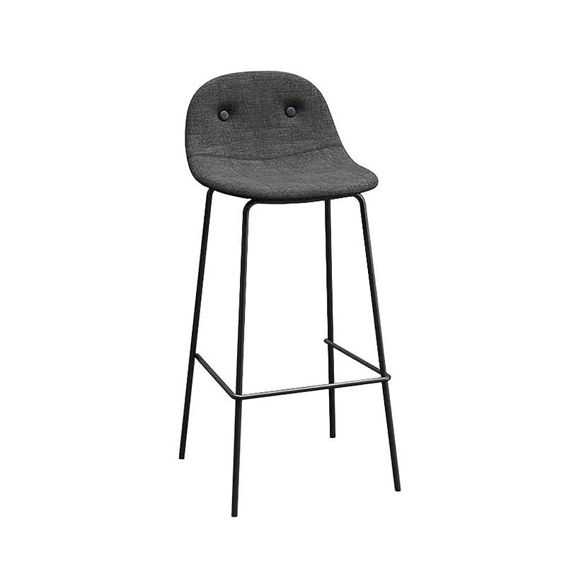 バースツールメタルキッチン朝食パブカウンター背の高い椅子ホームシンプルダイニングテーブルチェア背もたれフットレスト家具(容量:75CM)