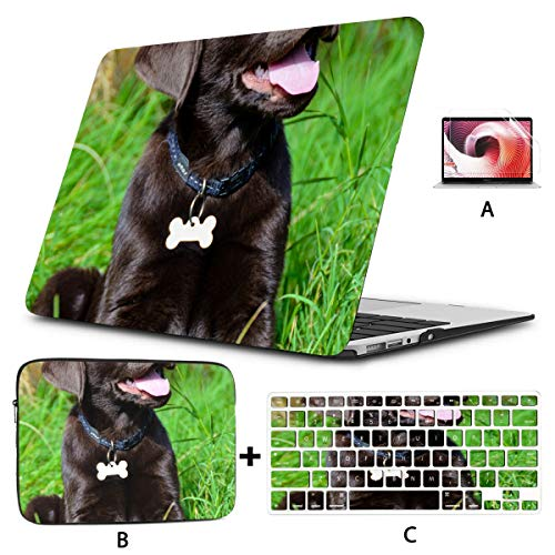 Computer Cover Chocolate Labrador Puppy Mac Book Pro Covers Hard Shell Mac Air 11'/13' Pro 13'/15'/16' With Notebook Sleeve Bag For Macbook 2008-2020 Version
