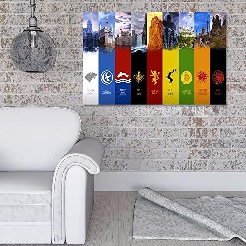 Geiqianjiumai canvas wandfoto woonkamer spel home print HD poster decoratie frameloos schilderwerk