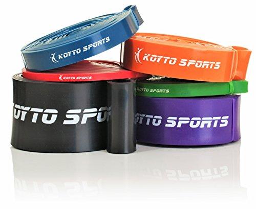 Bandas elásticas para dominadas (pull-ups) – 6 niveles, 1 – 80 kg de resistencia, 104 cm. Bandas elásticas de entrenamiento para dominadas (pull-ups), estiramientos y levantamiento de pesas