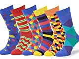 Easton Marlowe - Lot 6 paires - Chaussettes Fantaisie Homme Motif Coton Peigné - 6pk #4, mixed - bright colors, 43-46 EU shoe size