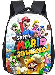 Super Mario bros Mochila escolar Bolsas Sonic The Hedgehog Print mochila escolar para niñas niños ortopédica mochila escolar mochila mochila mochila escolar mochila para niños bolsa de libro