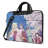 Yusanbaihuodian - Bolso bandolera para ordenador portátil Anime Konohana Kitan, bolsas de bandolera para ordenador portátil con correa ajustable y bolsas de trabajo de 13 pulgadas