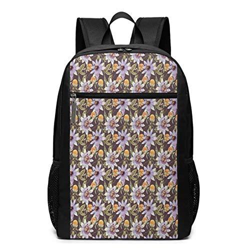 Mochila Escolares Flor 221, Mochila Tipo Casual para Niñas Niños Hombre Mujer Mochila para Ordenador Portátil Viaje