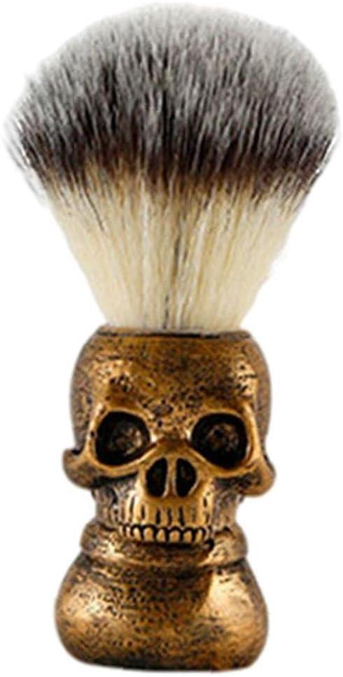 Hainice Hair Max 85% OFF Shaving Brush Handle Beard Skull Grooming Soft Soap San Francisco Mall