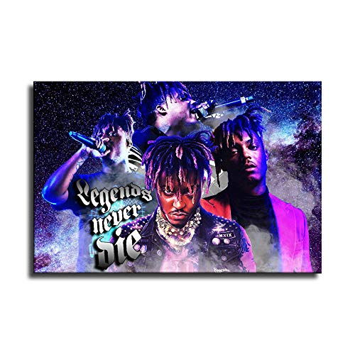 FANER Legends Never Die Juice WRLD (Jarad Higgins) HD Print Hip-hop Rap Poster Background Wall Decor Sticker for Living Room Decor Canvas Art Wall Picture