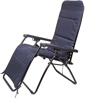 JGWJJ Silla Extragrande de Gravedad Cero sillón de Patio al Aire Libre sillas reclinables Plegables de Oficina Ajustable...