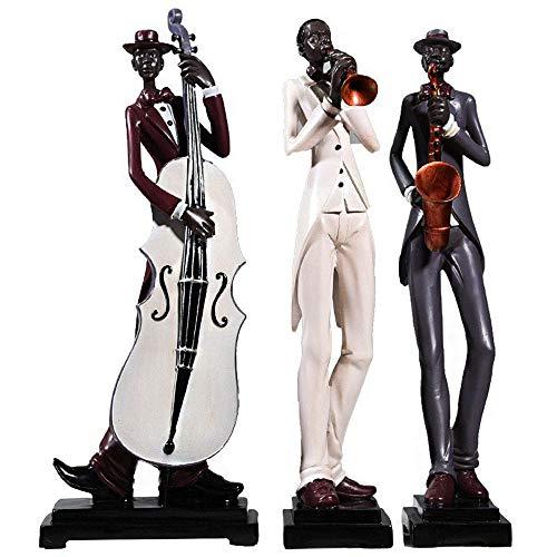HPDOM Estatua del Personaje, Escultura De La Banda De Jazz, DecoracióN del Personaje, DecoracióN Moderna De La Sala De Estar, Oficina, Dormitorio, Estudio, Vitrina, Bar