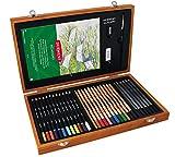 Derwent Academy 2300147 Crayons de Couleur et Crayons de graphite - Ensemble de fournitures d'art - 30 Crayons et 5 Accessoires
