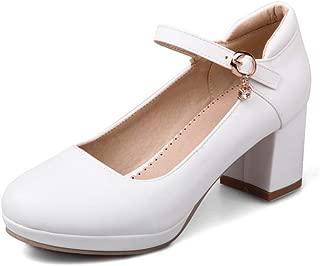 BalaMasa Womens APL12371 Leather Platform Heels