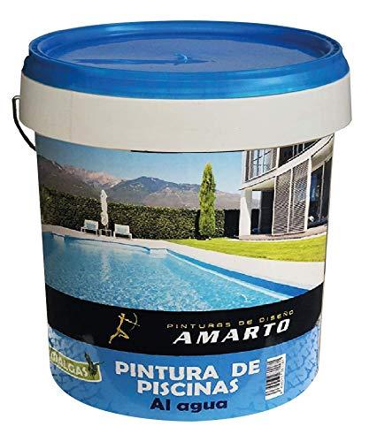 Pintura de Piscinas al agua Azul, con aditivo antialgas 20 kg.
