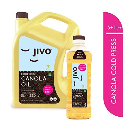 JIVO Canola Cold Pressed Oil5 LTR (1 LTR Free).