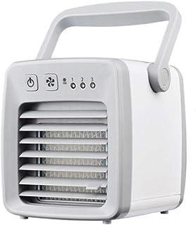 Kücheks Aire Acondicionado USB Ventilador Portátil Oficina en el hogar Mini Refrigerador evaporativo móvil Enfriador de Aire 7 Luces LED Humidificador Purificador con Mango (Rosa)
