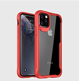 Simple iPhone 11 Pro mobile phone Case tpu clear back cover anti fall 5.8 inch Protective sleeve red